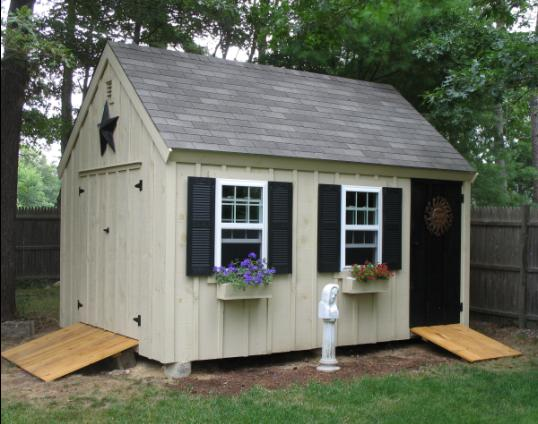 Cape Cod timber frame shed